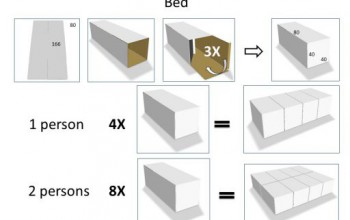 bed 1p + nightstand