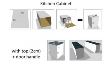 Kitchen in cardboard