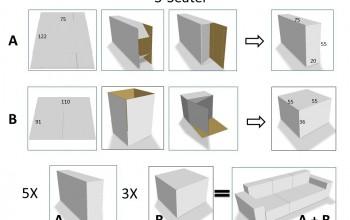 Montage de meubles en carton