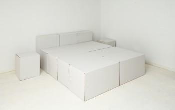2-persoonsbed, nachtkasten, hoofdeinde