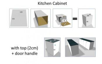 Armoire Cuisine en carton