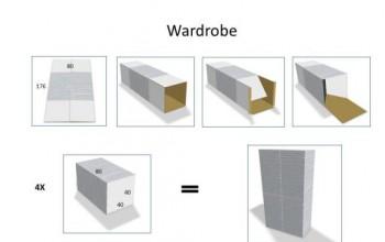 Cardboard wardrobe (4)